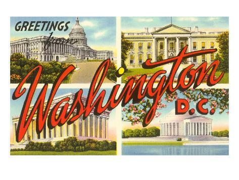 Greetings from Washington, DC Art Print