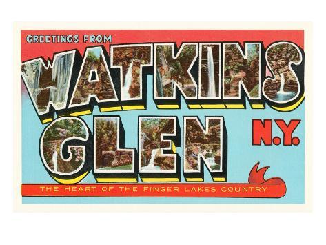 Greetings from Watkins Glen, New York Art Print