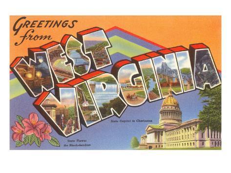 Greetings from West Virginia Art Print