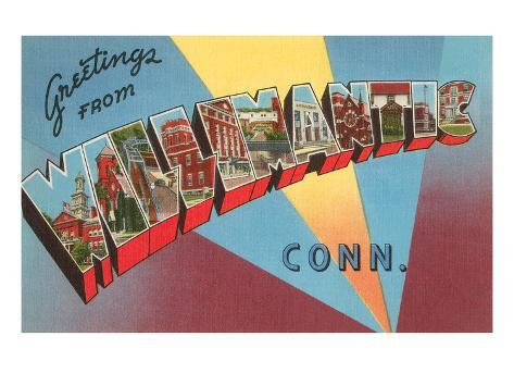 Greetings from Willimantic, Connecticut Stretched Canvas Print