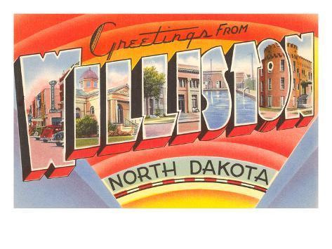 Greetings from Williston, North Dakota Art Print
