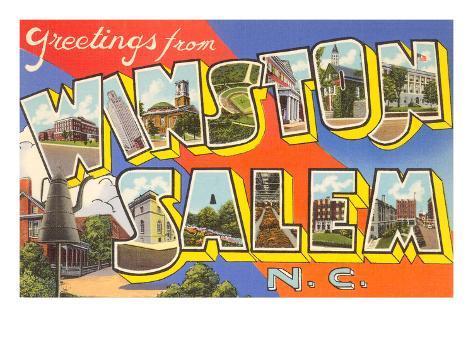 Greetings from Winston-Salem, North Carolina Art Print