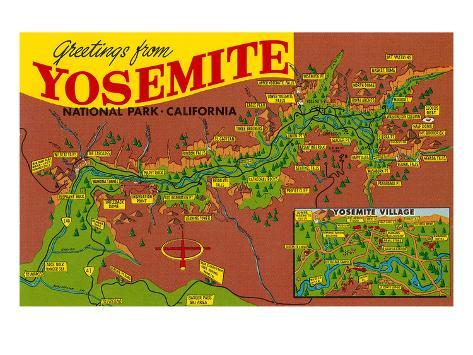 Greetings from Yosemite Art Print