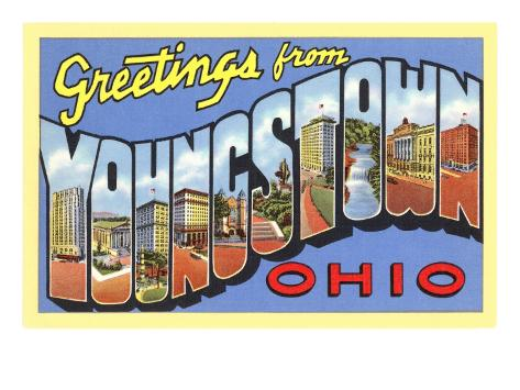 Greetings from Youngstown, Ohio Art Print