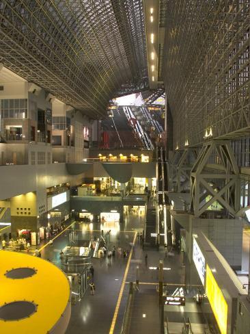 Atrium over the Main Concourse at Kyoto Train Station, Kyoto, Kinki, Japan Photographic Print