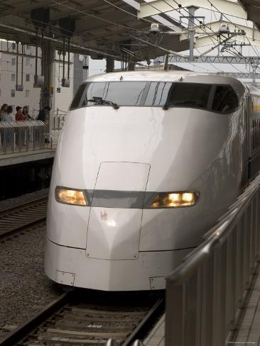 Front of a Shinkansen, Kyoto, Kinki, Japan Photographic Print