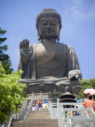 Tian Tan Buddha Statue, Lantau Island, Lantau Island, Hong Kong, China Photographic Print