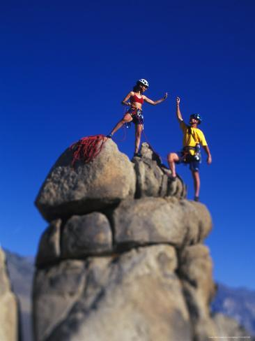 Rock Climbers Photographic Print