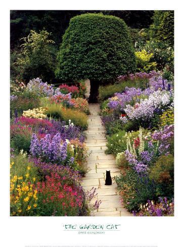 El gato del jard n l mina por greg gawlowski en for Ahuyentar gatos del jardin