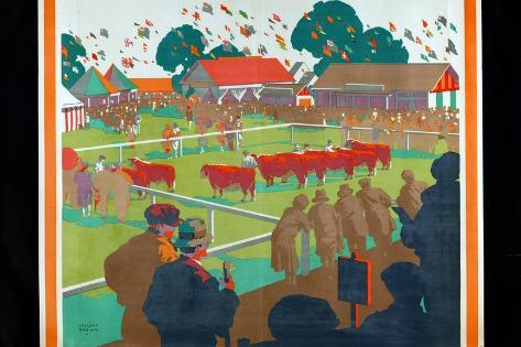 A Home Agricultural Show, 1927 Giclee Print
