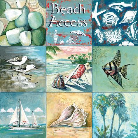 Beach Access - Nine Square Premium Giclee Print