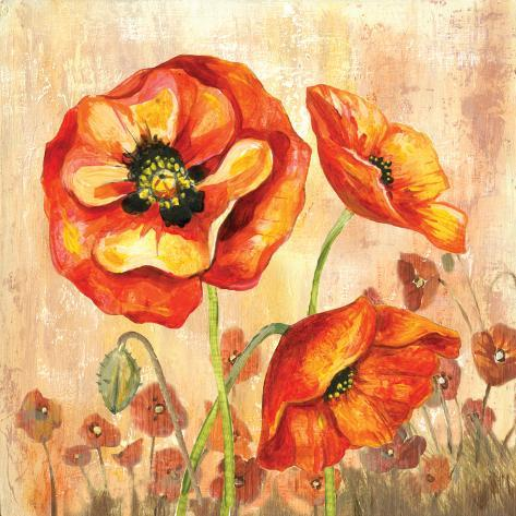 Big Red Poppies II Posters by Gregory Gorham - AllPosters.ca