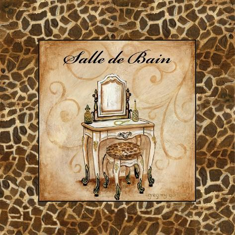 giraffe salle de bain premium giclee print by gregory gorham at. Black Bedroom Furniture Sets. Home Design Ideas