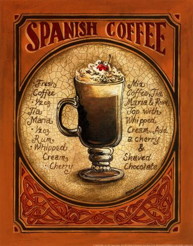 Spanish Coffee Art Print