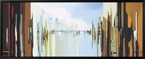Urban Abstract No. 242 Framed Canvas Print