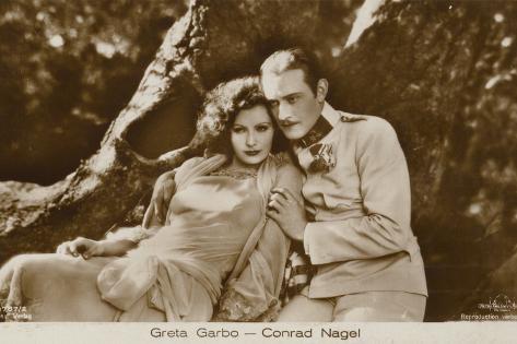 Greta Garbo, Conrad Nagel Photographic Print