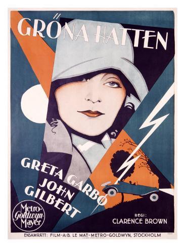 Greta Garbo in Grona Hatten Giclee Print