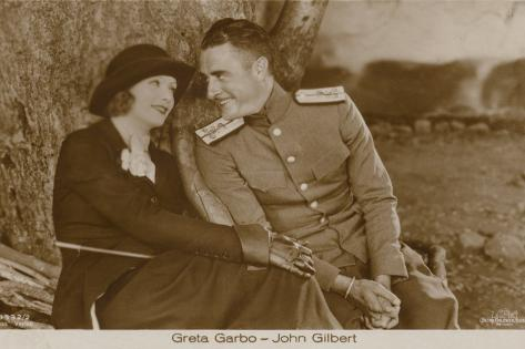 Greta Garbo, John Gilbert Photographic Print