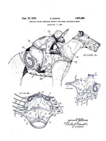 Greyhound Racing And Monkey Jockey 1933 Giclee Print At Allposters Com