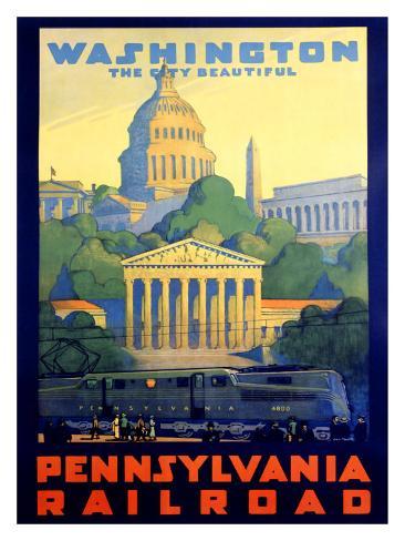 Pennsylvania Railroad, Washington D.C. Giclee Print
