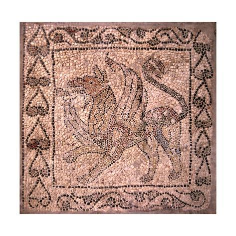 Griffin Fragment Of Mosaic Floor Prints