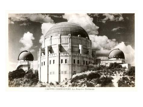 Griffith Park Planetarium, Los Angeles, California Art Print