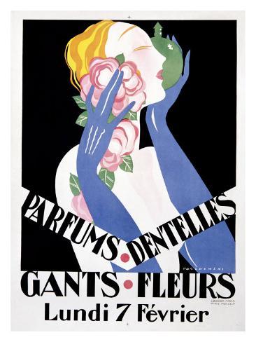 Parfums Dentelles Giclee Print