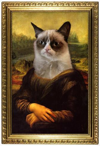 Grumpy Cat Mona Lisa Prints Allposters Co Uk