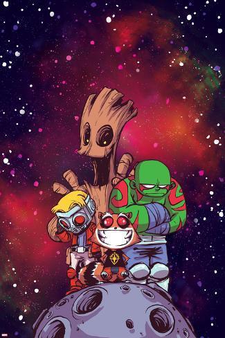 オールポスターズの guardians of the galaxy cover art featuring