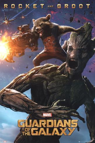 Guardians Of The Galaxy - Rocket & Groot Poster