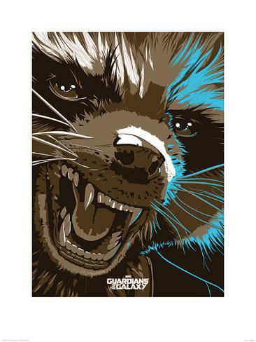 Guardians Of The Galaxy - Rocket Raccoon Art Print