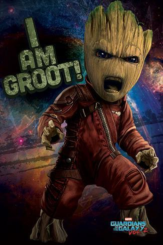 Guardians Of The Galaxy Vol.2 - Angry Groot Poster