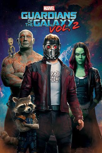 Guardians Of The Galaxy Vol. 2 - Characters In Space Poster