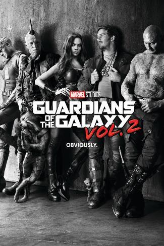 Guardians of the Galaxy: Vol. 2 - Gamora, Drax, the Milano, Star-Lord, Rocket Raccoon, Groot Stretched Canvas Print