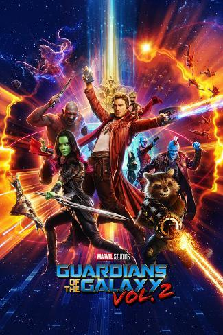 Guardians of the Galaxy: Vol. 2 - Star-Lord, Gamora, Drax, Groot, Rocket Raccoon, Yondu, Mantis Póster