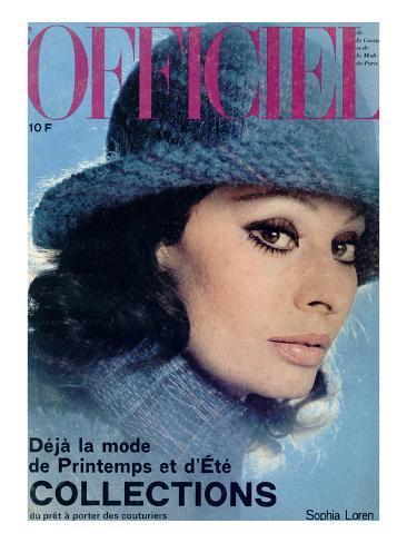 L'Officiel, 1975 - Sophia Loren, Chapeau de Jean Barthet, en Mousseline de Mohair Surpiquée Taidevedos