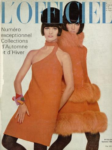 L'Officiel, September 1966 - Manteau et Robe de Pierre Cardin Taidevedos