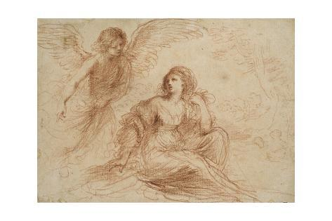 An Angel Appearing to Hagar and Ishmael, C.1653 Lámina giclée