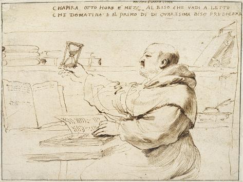Caricature of Fra Bonaventura Bisi, 1655 - 1659 Lámina giclée