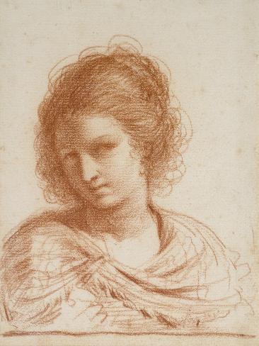 Head of a Young Woman, 1650 - 1666 Lámina giclée
