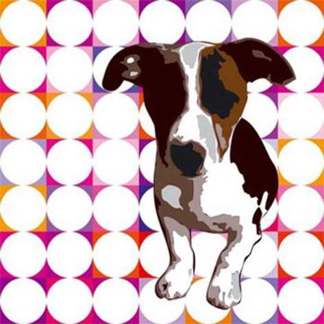 Atome as a Puppy Pop Star II Framed Art Print