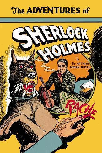 Sherlock Holmes contra Moriarty Vinilo decorativo