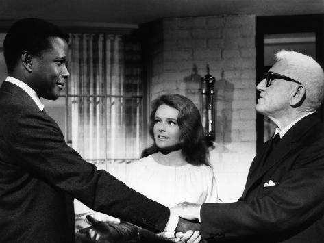 Guess Who's Coming To Dinner, Sidney Poitier, Katharine Houghton, Spencer Tracy, 1967 Foto