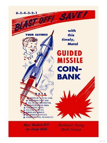 Guided Missile Coin-Bank Art Print