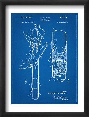 Guided Missile Patent Framed Art Print