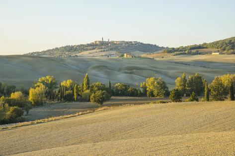 Landscape around Pienza Photographic Print