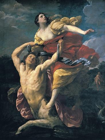 Delianira Abducted by the Centaur Nessus Art Print