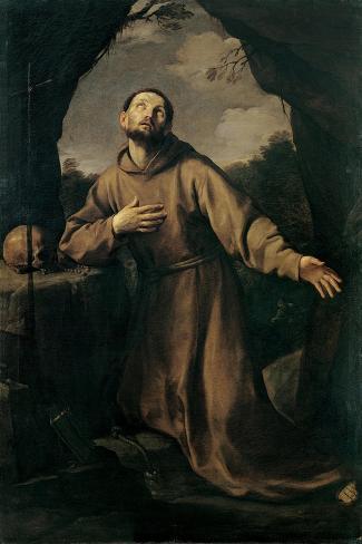 St. Francis in Ecstasy Lámina