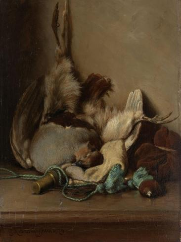 Still Life with Wood Pigeon and Powder Horn Art Print