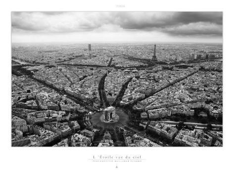 Paris, l'Etoile Vue du Ciel Art Print